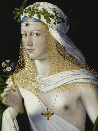 Idealized Portrait of a Courtesan as Flora, about 1520/25