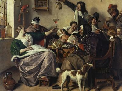 Cheerful Party (The Family of the Painter), about 1657