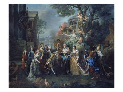 Allegory of the Reunion of Elector Max Emanuel with His Family, 1715