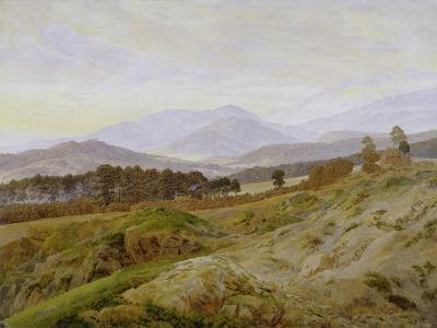 Landscape in the Riesengebirge (Bohemian Landscape), about 1835, Unfinished