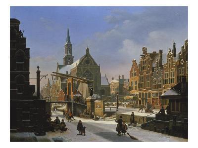 Wintery City Scene
