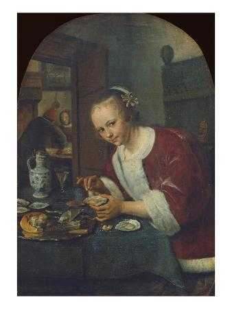 Girl Eating Oysters, about 1658-60