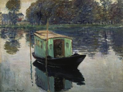 Monet's Studio-Boat, 1874