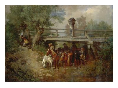 Troop under a Bridge During the Thirty Years War
