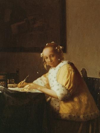 A Lady Writing, about 1665
