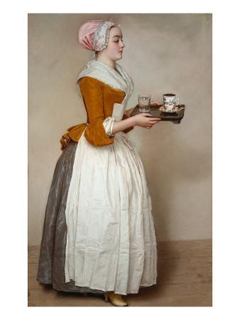 The Hot Chocolate Girl, about 1744/45