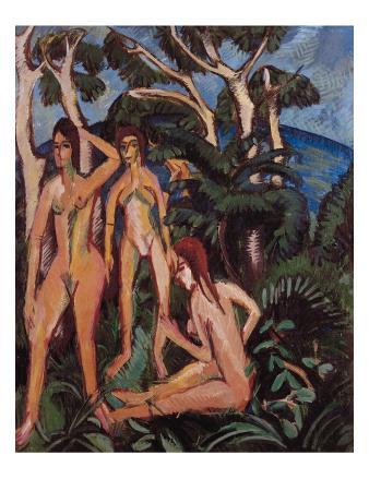 Bathers under Trees, 1913
