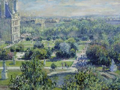 View of the Tuileries Gardens, Paris, 1876