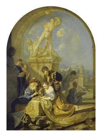 Spielende Kinder Vor Einer Herkulesgruppe, 1687