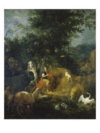 Orpheus Spielt Vor Den Tieren. Vor 1720