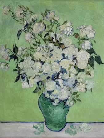 Vase with White Roses, 1890