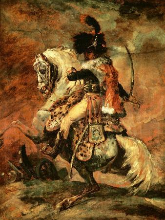Officer of the Hussars on Horseback, 1812/16