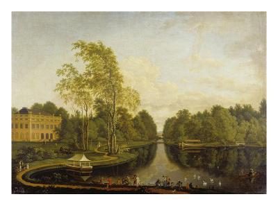 Ehemaliger Oberer See Mit Schloss Schoenbusch (Aschaffenburg) Und Kanal. Um1785