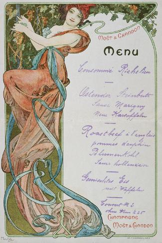 Moet and Chandon Menu, 1899