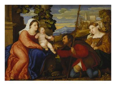 Maria Mit dem Kinde Sowie Den Hll.Rochus Und Aurea(?)