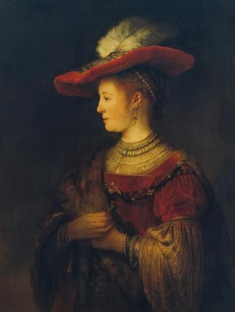 Portrait of Saskia Van Uylenburgh, the Artist's Wife, 1633/34