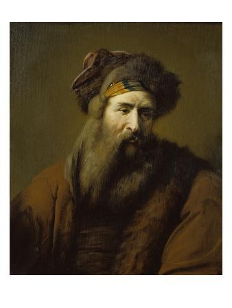 Head of a Bearded Man in Oriental Costume, about 1660-1670
