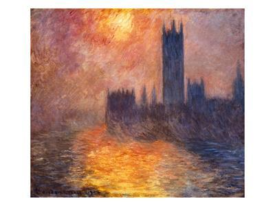 The Parliament Building in London During Sunset, 1904