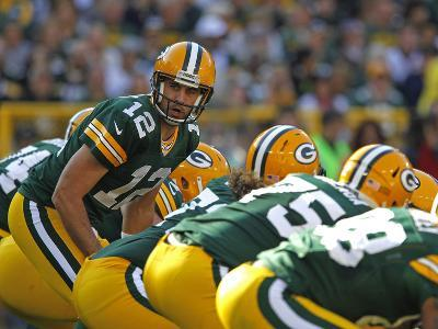 Green Bay Packers - Sept 30, 2012: Aaron Rodgers