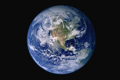 Earth from Space with Western Hemisphere