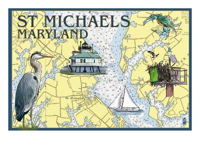 St. Michaels, Maryland - Nautical Chart