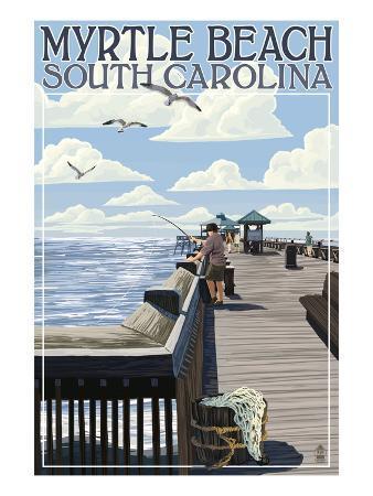 Myrtle Beach, South Carolina - Pier Scene