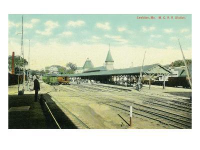 Lewiston, Maine - Maine Central Railroad Station View