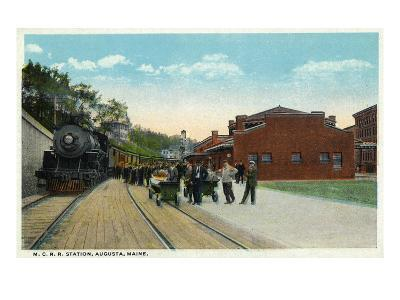 Augusta, Maine - Maine Central Railroad Station View