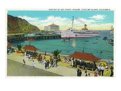 Avalon, California - Portion View of the Bay Front