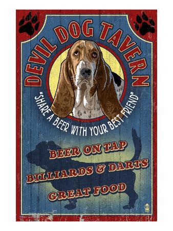 Devil Dog Tavern - Basset Hound
