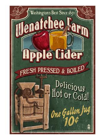 Wenatchee, Washington - Apple Cider