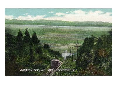 Catskill Mountains, New York - View of Otis Elevating Railway
