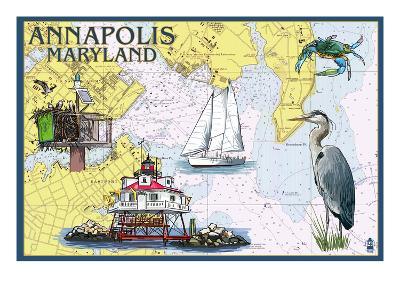 Annapolis, Maryland - Nautical Chart