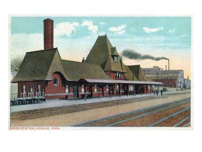 Keokuk, Iowa - Exterior View of Union Station