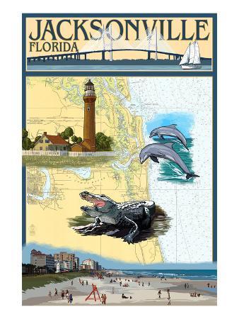 Jacksonville, Florida - Nautical Chart