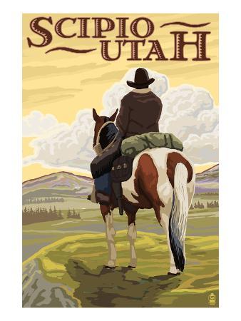Scipio, Utah - Cowboy and Valley