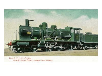 View of a French Express Engine Called Orient Express