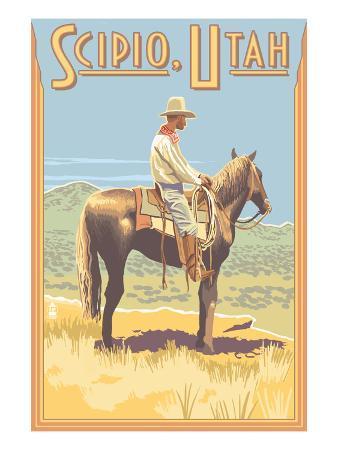 Scipio, Utah - Cowboy Side View