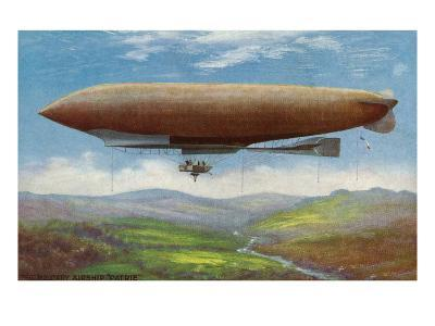 View of the French Military Flying Airship Patrie