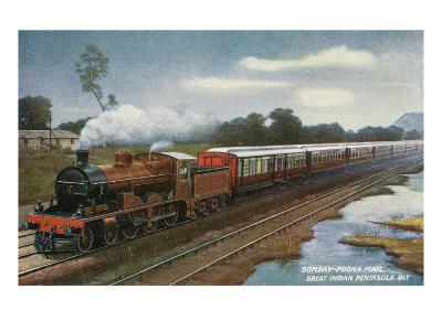 India - View of the Bombay-Poona Mail Train