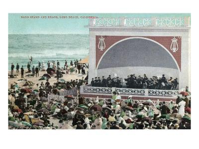 Long Beach, California - View of the Band Stand and Beach