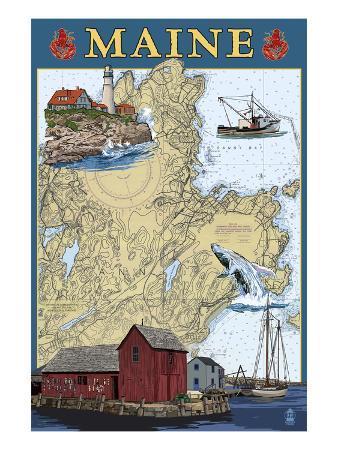 Maine Scenes - Nautical Chart