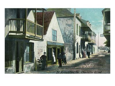 St. Augustine, Florida - View Down Charlotte Street