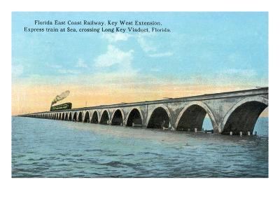 Florida - View of the Key West Extention of the FL East Coast Railroad