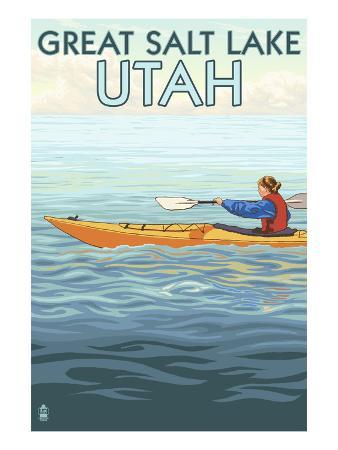 Great Salt Lake, Utah - Kayak Scene