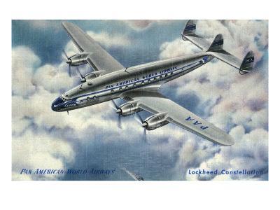 View of Pan American World Airways Lockheed Constellation Plane