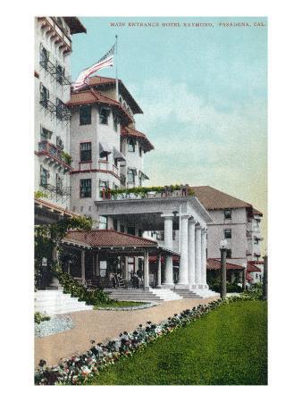Pasadena, California - Hotel Raymond Main Entrance View