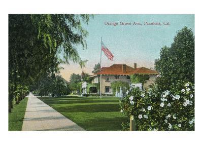 Pasadena, California - Scenic View Down Orange Grove Avenue