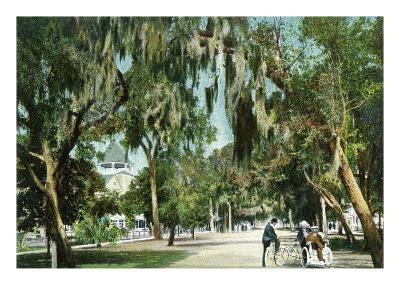 Daytona Beach, Florida - Ridgewood Ave and Hotel View