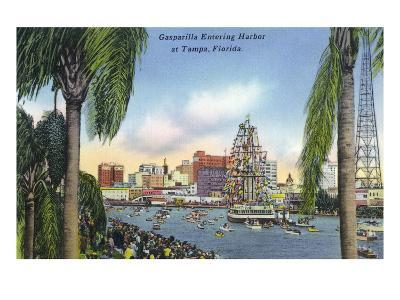 Tampa, Florida - Gasparilla Entering the Harbor Scene